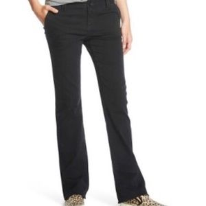 🆕 2 Pair Mossimo Mid-Rise Bootcut Blk Chino Pants